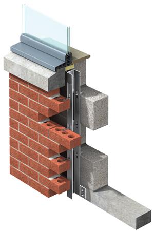 Masonry support and wind post systems keystone lintels uk