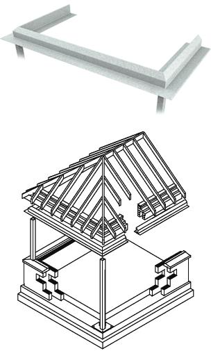 Square Bay Sun Lounge Steel Lintels